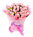 99 pink rose bouquet-You are not alone